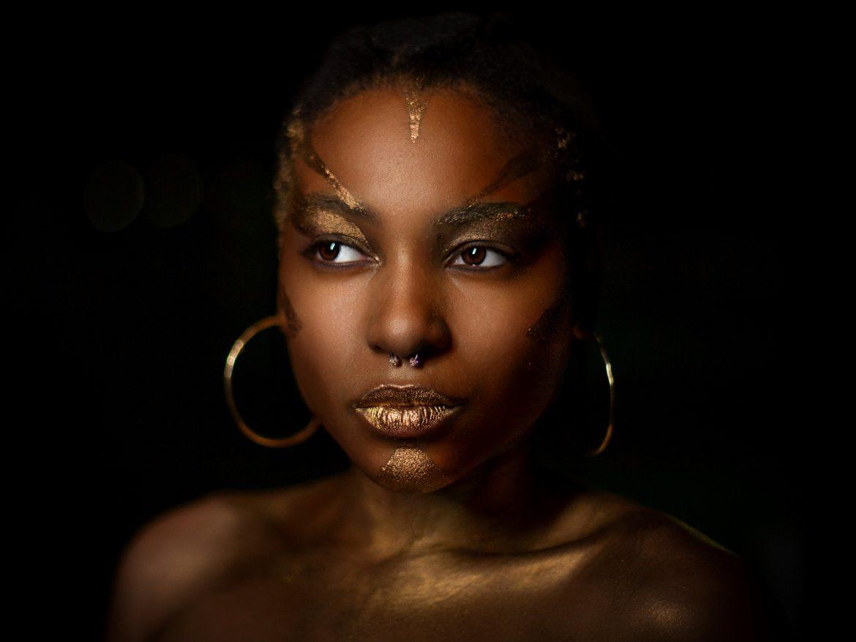 black woman body paint