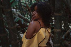 woman yellow top