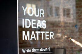 ideas matter sign