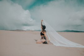 woman beach dress